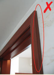 Consistent Gap Between Door Panel And Frame. Gap Should Not Be More Than  5mm.
